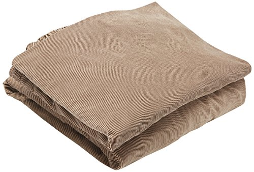 Sure Fit Stretch Stripe 2-Piece - Sofa Slipcover  - Brown (SF37655) - Futon Cover Soft Suede