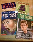 Set of 4 Louis Sachar Books (Wayside School Get a Little Stranger, The Boy Who Lost His Face, Dogs Don t Tell Jokes, Holes)
