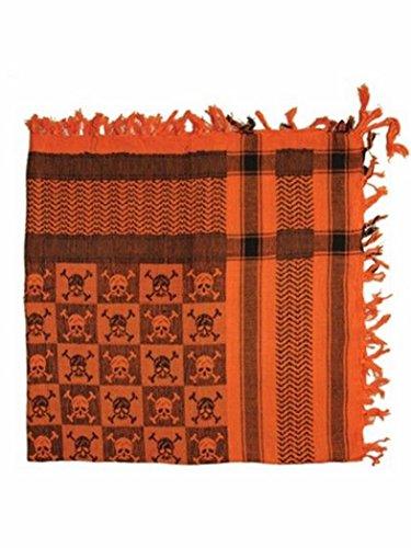 OLP bandana motif tête de mort à carreaux orange-orange