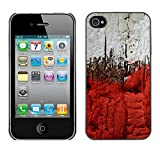 LASTONE PHONE CASE / Slim Protector Hard Shell Cover Case for Apple Iphone 4 / 4S / Cool City Blood Deep View Painting Grey