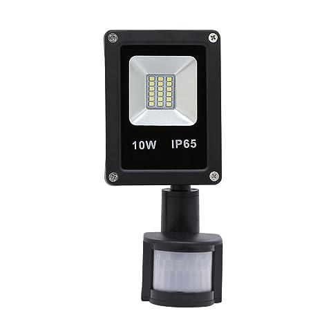HG® 10W Blanco frío Foco proyector LED PIR sensor detección de movimiento IP65