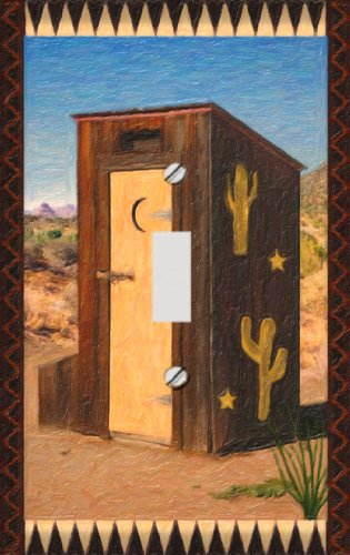 Southwest Outhouse Switchplate - Switch Plate Cover