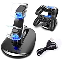 PS4 Dual USB Charger Lenboken DUAL New arrival LED USB...