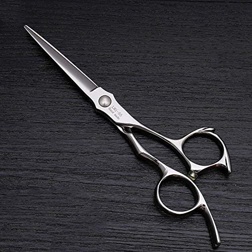 ZGYQGOO 5.5-inch Haircut Flat Scissors High-end Hairdresser Special Haircut Finishing Scissors (Color : Silver)
