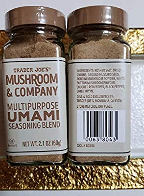 Amazon Com Trader Joe S Mushroom Company Multipurpose Umami Seasoning Blend Net Wt 2 1 Oz Pack Of 2 Grocery Gourmet Food