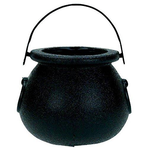 Lucky Saint Patrick's Day Black Mini Pot of Gold Party Favour, Plastic, 2