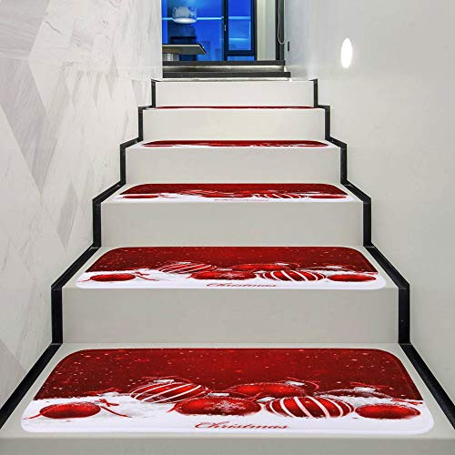 - Wffo Christmas Decoration 1Set StepBasic Non-Slip Coral Fleece Resistant Carpet Stair (G)