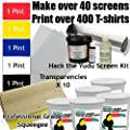 "Get Going with the Yudu (Includes Hack the Yudu Screen Liquid Emulsion kit [emulsion, scoop coater, emulsion remover, tutorial], 11"" Professional Squeegee, 5 Pints of Ink, Transparencies)"