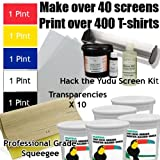 Get Going with the Yudu (Includes Hack the Yudu Screen Liquid Emulsion kit [emulsion, scoop coater, emulsion remover, tutorial], 11'' Professional Squeegee, 5 Pints of Ink, Transparencies)