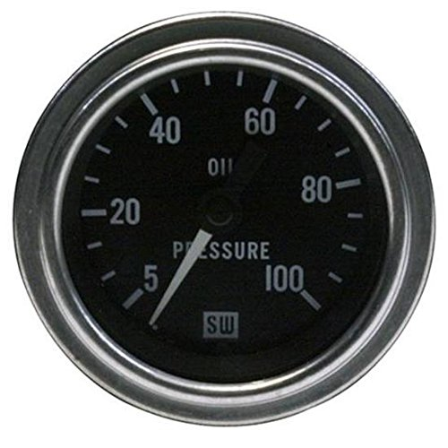 Stewart Warner 82323 Deluxe 2-1/16'' Oil Pressure Mechanical Gauge by Stewart Warner