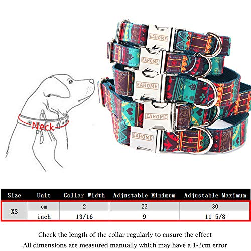 EAHOME Basic Pet Neck Collar Strong Premium Nylon Collar for Dog Sheep Goat Pig with Metal Buckle Long Lasting