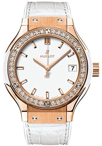 Hublot Classic Fusion Quartz Gold 33mm Ladies White Dial Watch 581.OE.2080.LR.1204