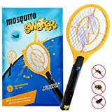 Kekilo Bug Zapper, USB Rechargeable Electric Mosquito, Fly Killer, Bug Zapper Racket and Mosquito Swatter for Indoor and Outdoor Camping Pest Control, 3-Layer Safety Mesh That's Safe to Touch (USB Rechargeable)