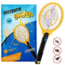 Kekilo Bug Zapper, USB Rechargeable Electric Mosquito, Fly Killer, Bug Zapper Racket and Mosquito Swatter for Indoor and Outdoor Camping Pest Control, 3-Layer Safety Mesh Thats Safe to Touch