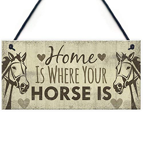 (Meijiafei Horse Gifts for Women Hanging Sign Horse Gifts for Girls Horse Accessories Cute Country Home Accessory Gift Sign for Horse Lovers 10