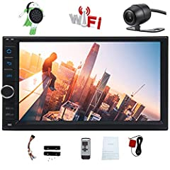Upgraded 7 Inch Capacitive Touch Screen Android 8.1 OCTA 8 Core CPU Double Din Car Stereo 2GB RAM 32GB ROM in Dash GPS Navigation Surport Bluetooth WiFi Car Radio Audio Vehicle Headunit with Free Rear Camera and Remote Control GPS - Operation...