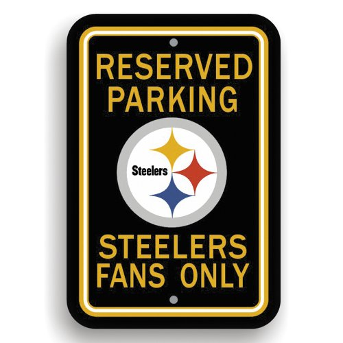Pittsburgh Steelers Parking Sign - Fremont Die NFL Pittsburgh Steelers Plastic Parking Sign