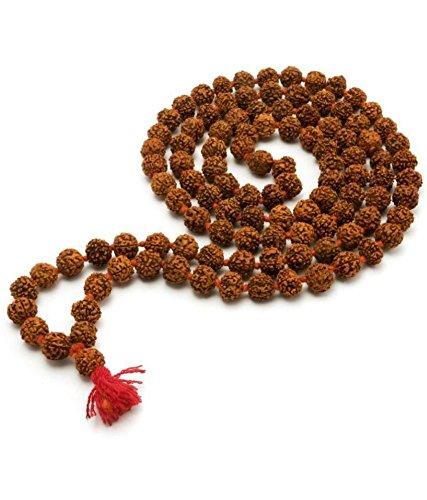 (Rosary 5 Faced Rudraksha Chain for Jaap (5 Mukhi Rudrakha mala) 108 Beads of Original Natural Himalayan Rudraksha Collection (5.0mm))