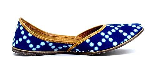 Indie Artisans Mocasines de Otra Piel Para Mujer Azul Azul Marino: Amazon.es: Zapatos y complementos