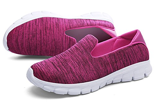 Causual Running Breathable Fashionable WSKEISP Chic spandex Shoes rose Sneakers xIZzwq