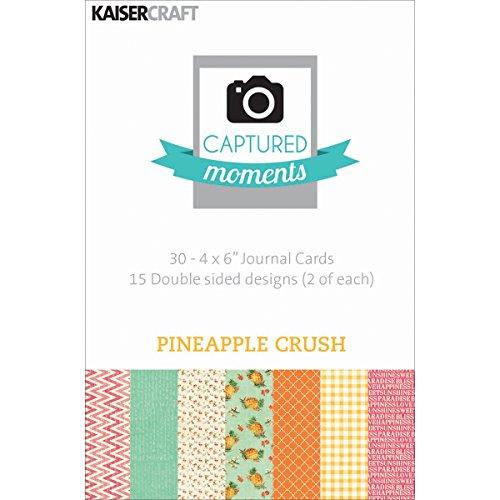 [해외]Tattooed ercraft Captured Moments 양면 카드 15.24x10.16cm 파인애플 크러시 30팩 / Kaisercraft Captured Moments Double-Sided Cards, 6 by 4-Inch, Pineapple Crush ,30-Pack