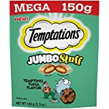 Temptations Jumbo Stuff Cat Treats Tempting Tuna Flavor, (10) 5.3 Oz. Pouches