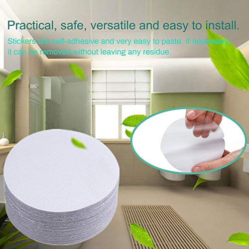 Yvetti Non-Slip Bathtub Stickers Round Safety Treads Adhesive Decals Scraper Anti Slip Bathroom for Bath Tub and Shower Surfaces