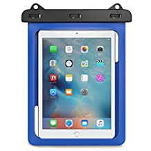 Universal Waterproof Case, MoKo Dry Bag Pouch for New iPad 9.7 2017, iPad Pro 9.7, iPad Air/Air 2, iPad 2/3/4, Tab S3 9.7, Tab S2 9.7, Tab A 9.7, Tab E 9.6 and Other Tablets up to 10 Inch, BLUE