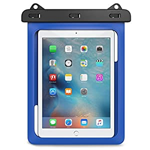 Universal Waterproof Case, MoKo Dry Bag Pouch for New iPad 9.7 2017, iPad Pro 9.7, iPad Air 2, iPad 4/3/2, Samasung Tab S3/Tab S2/Tab A 9.7, Galaxy Note 8, Tab E 9.6 and More Up to 10 Inch, BLUE