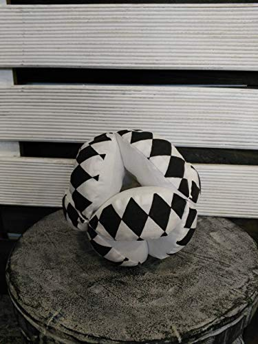 Harlequin puzzle ball, Montessori baby toy, ying yang fabric ball