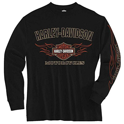 Harley Davidson Sleeve Flaming Shield 1590605