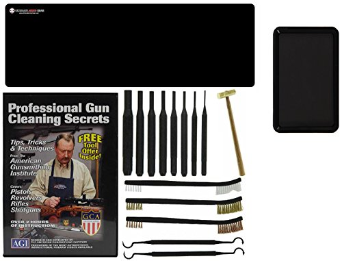 Ultimate Arms Gear AGI DVD Professional Gun Cleaning Course Secrets Mauser Model 98 Rifle Gunsmith Cleaning Gun Mat + Punch Tool Set Kit + Hammer + Brush & Pick Tool Set + Magnetic Parts Tray by Ultimate Arms Gear