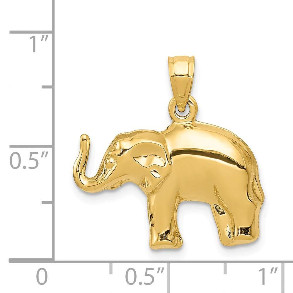 14k Elephant Pendant