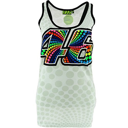 Valentino Rossi VR46 Moto GP White Large 46 Women's Tank Top Official 2017