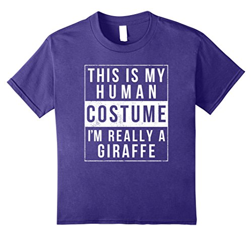 Funny Halloween Costumes For College Kids (Kids Giraffe Halloween Costume Shirt Funny Easy for Kids Adults 10 Purple)