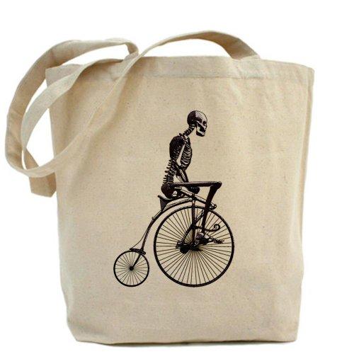 CafePress–Bicicleta esqueleto–Gamuza de bolsa de lona bolsa, bolsa de la compra