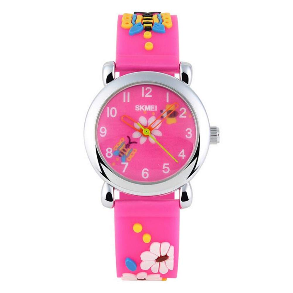 Children's Watch/Fashion Cartoon Butterfly Quartz Jelly Watch/Waterproof Quartz Watch for Male and Female Students