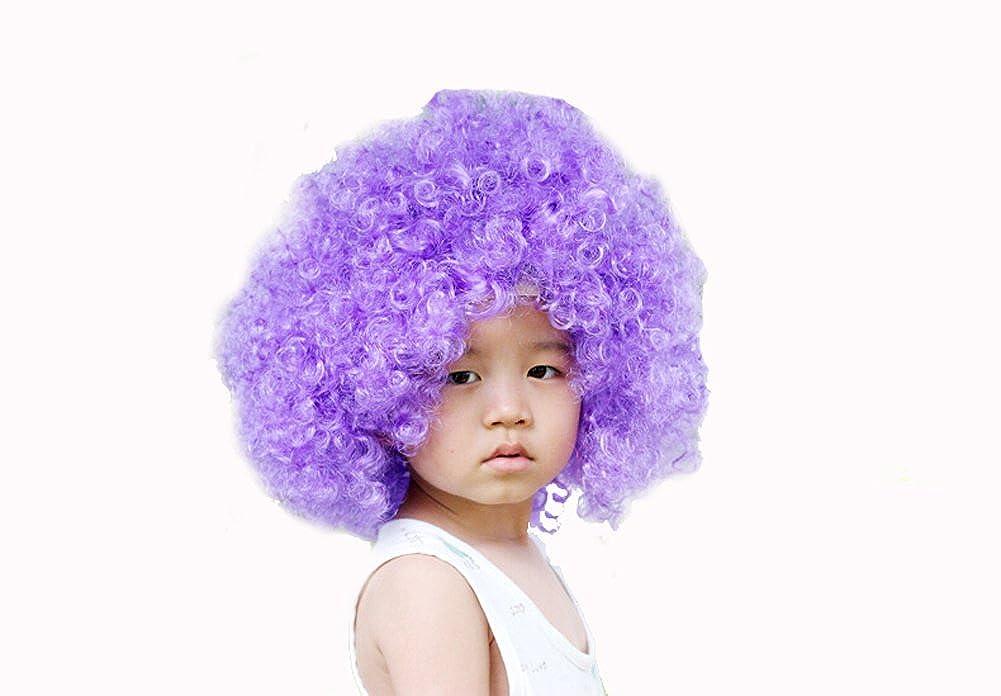 DELEY Enfants Halloween Costume Color/é Boucl/és Afro Perruque de Clown Partie Hairpiece Accessoire