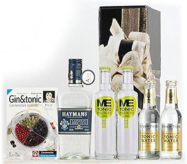 Pack GinTonic: Ginebra HAYMANS, 2 Tónicas Premium ME TONIC by BORNEY y 2 Tónicas Premium FEVER TREE: Amazon.es: Alimentación y bebidas