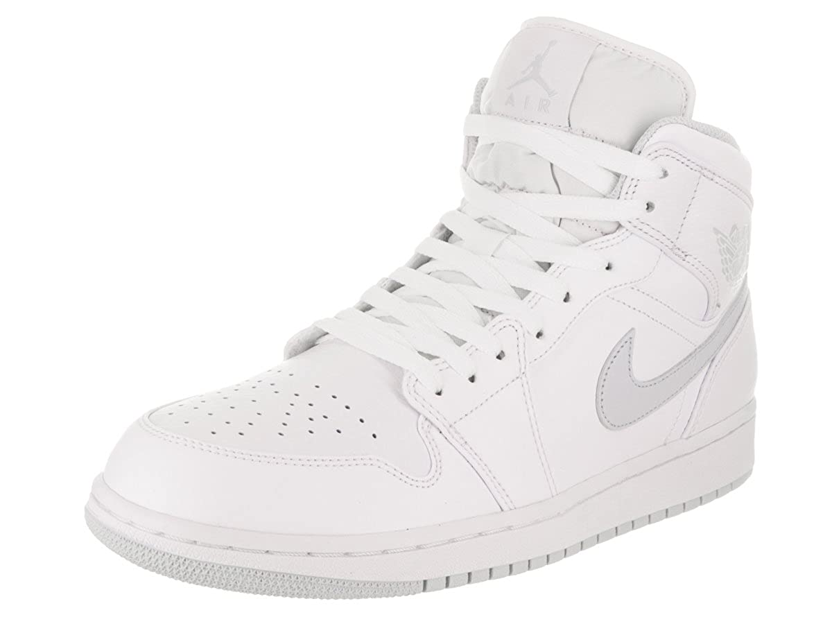factory price ba46f e3663 Nike 554724-108 : Men's Air Jordan 1 Mid Basketball Shoe (13 D(M) US,  White/Pure Platinum)