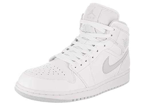 Amazon.com: Jordan Nike Air 1 Mid blanco/Pure Platinum ...