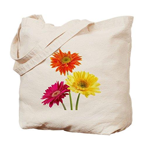 CafePress - Daisy Gerbera Flowers - Natural Canvas Tote Bag, Cloth Shopping Bag Gerbera Favors