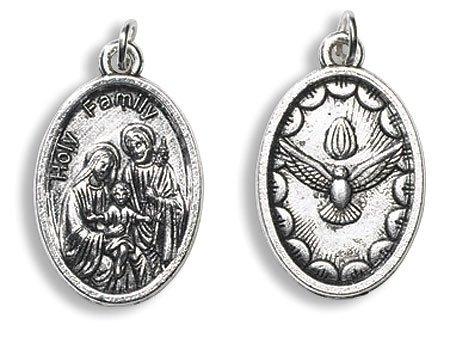 (AT001 Catholic & Religious Holy Family, Holy Spirit Devotional Saint Medal - 50/pk)