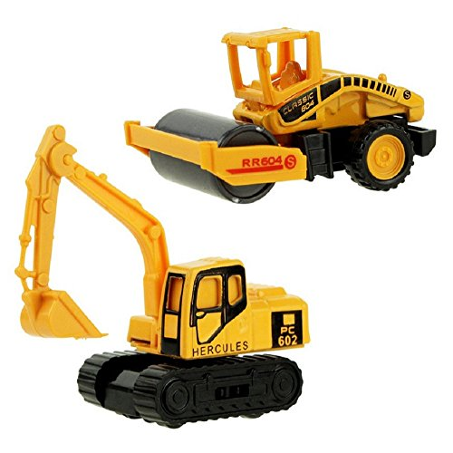 XADP 6 Pcs Play Vehicles Construction Vehicle Truck Cars Toys Set,Friction Powered Push Engineering Vehicles Assorted Construction for Boys and Girls by XADP (Image #4)