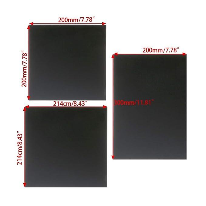jenor Accesorio para Impresora 3D Imprimir Bed Tape Print Pegatinas Build Plate Tape 12