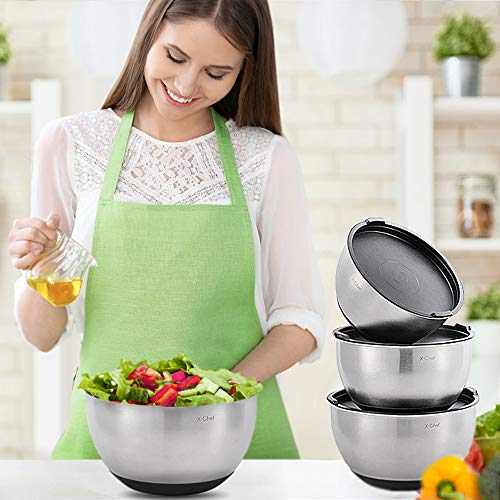 X-Chef Stainless Steel Mixing Bowls