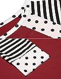 Zeagoo Women's Polka Dots Shirt Striped 3/4 Sleeve