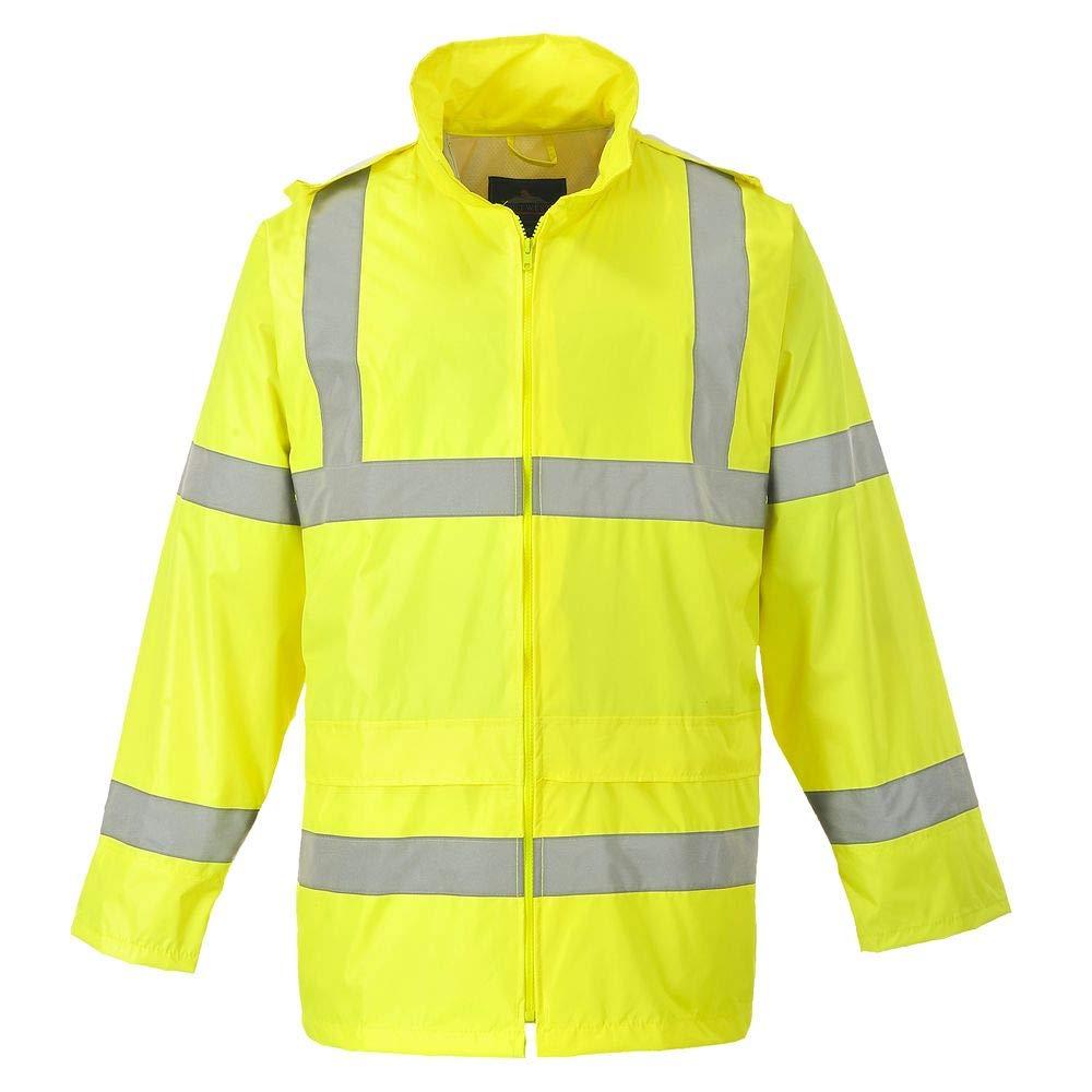 // Safetywear//Workwear H440 Portwest Hi-Vis Rain Jacket Yellow 2XL