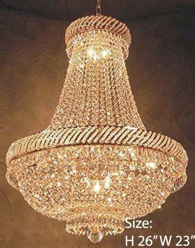 "French Empire Crystal Chandelier Chandeliers Lighting H26"" X W23"""