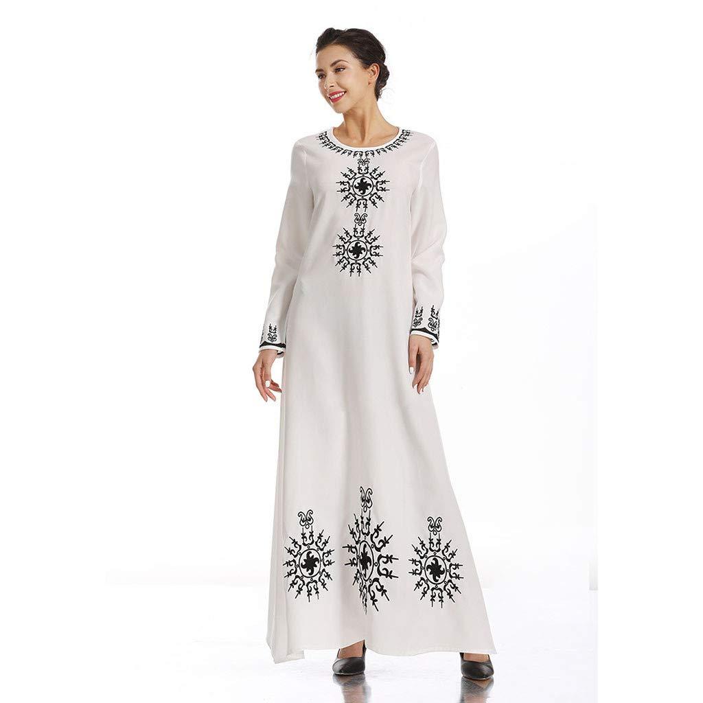 Abaya Grande Taille Robe Longue Femme Ete POPLY Robe Muslim Femme Abaya Femme Musulmane 2019 Abaya Dubai Moderne Mode Robe Islamique Femme Cool Kaftan Femme Marocain Takchita Caftan Femme Oriental